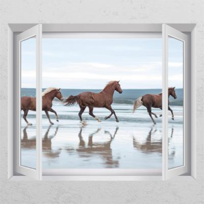 cd935-풍수에좋은역동적인말03_창문그림액자