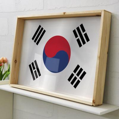 ii977-우드프레임액자_나라별국기24