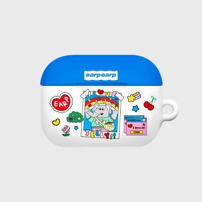 kkikki love jelly-white/blue(Hard air pods pro)