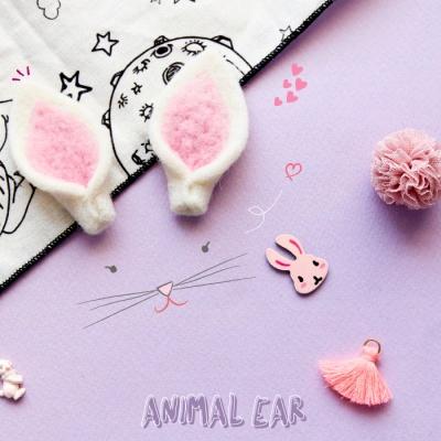 하얀펠트 동물 귀 2p