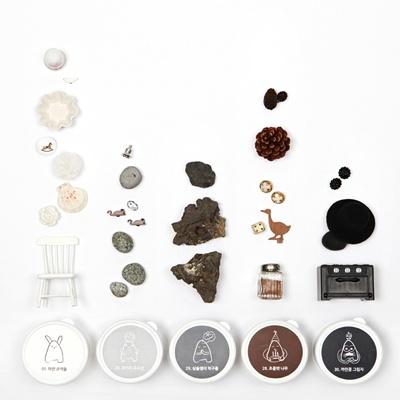 [아리부바] 클레이 그라데이션 : 흰색계열 Set