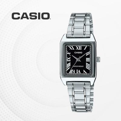 카시오 아날로그 메탈 여성 손목시계 LTP-V007D-1B