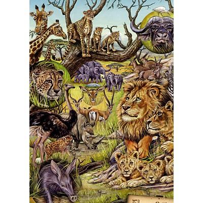 직소퍼즐 [1000조각] - 사바나의 동물들(HE29661)