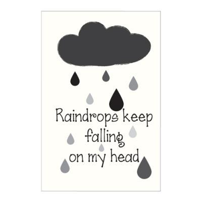 왈가닥스 타이포그래피 포스트카드 엽서 - rain