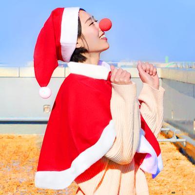 성인 고급형 산타망토 SET (산타 망토 + 산타 모자)