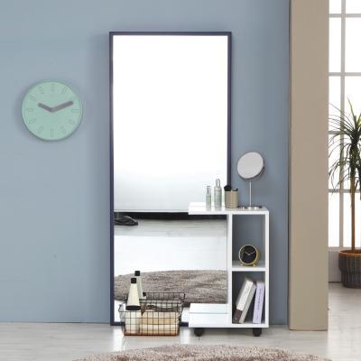 하레 와이드 전신거울 화장대 딥블루