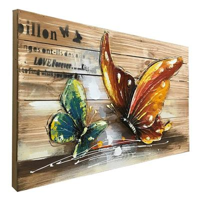 나비 입체 우드액자 인테리어소품 벽장식 빈티지액자