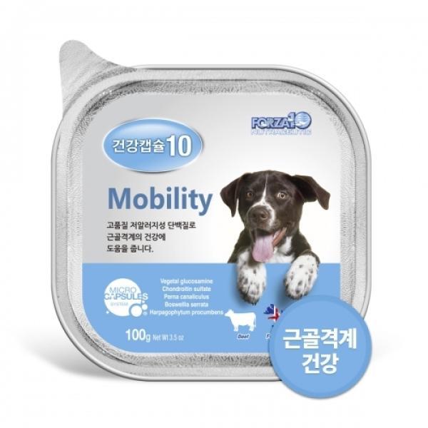 건강캡슐10 관절 mobility 100g 강아지 기능성 주식캔
