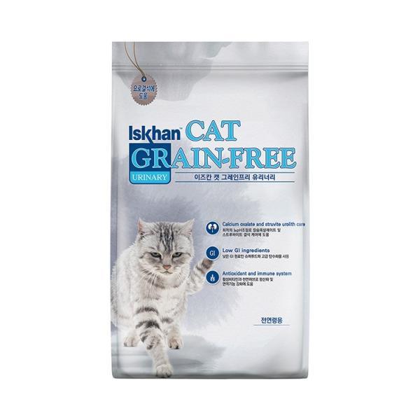 이즈칸 캣 그레인프리 유리너리 5kg 고양이 사료
