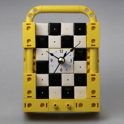 벽걸이시계1 블럭 (170338) 블럭레고형시계,