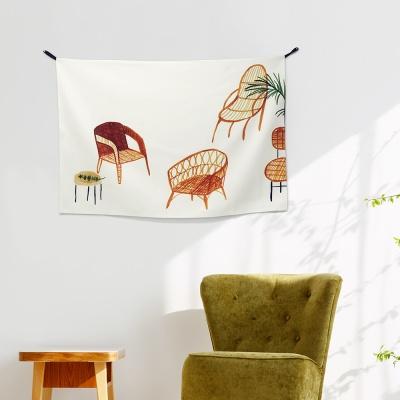 패브릭 포스터 / 의자의 하루