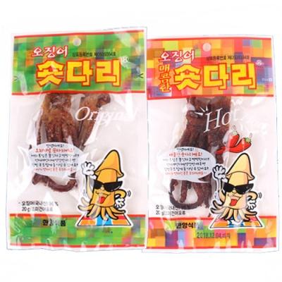 [의리오징어] 숏다리 오리지날x10팩+매콤한맛x10팩