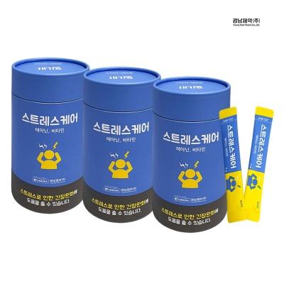 경남제약 긴장완화 밀크맛 스트레스케어 30포 x 3통