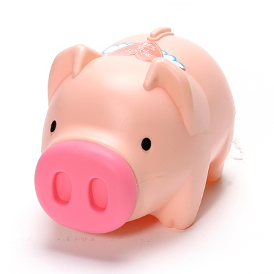 팬시 핑크 돼지저금통(대)