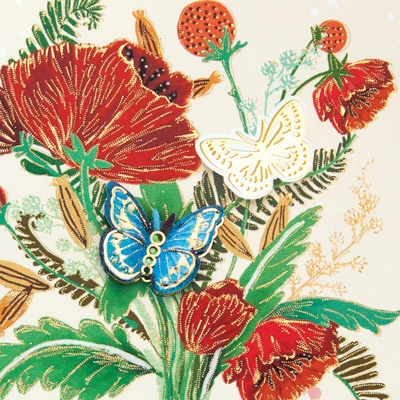 꽃리본 카드 FT1039-3