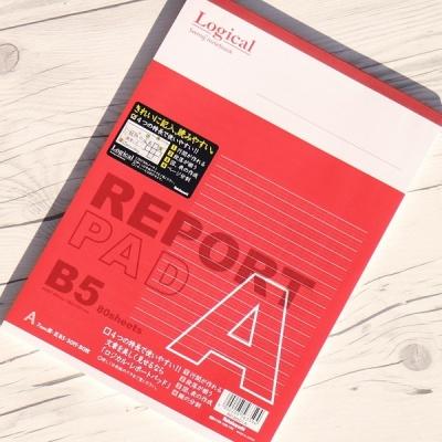 B5 80매 논리노트 고급 레포트용지..나카바야시 로지컬 레포트패드 N5-6