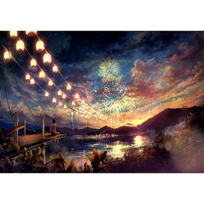 1000조각 목재 직소퍼즐▶ 하늘에 피는 오색꽃 [WPK1000-31]