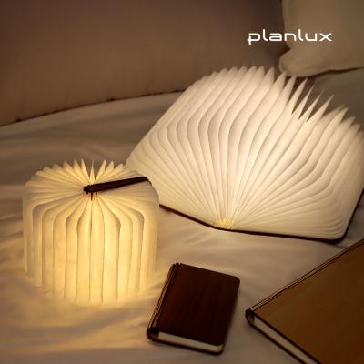 플랜룩스 LED 북 무드등 원목 책 조명 수면등 취침등