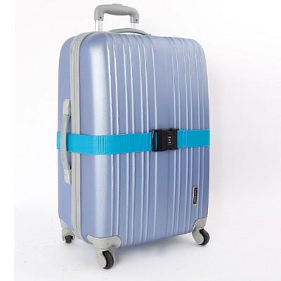 3다이얼 컬러 가방벨트 - 블루