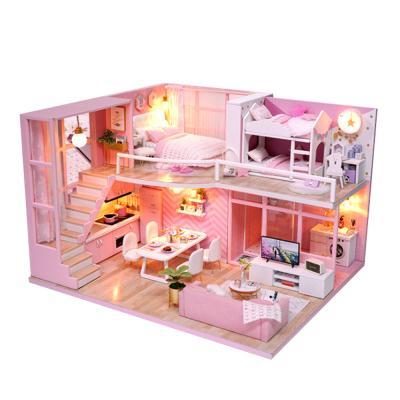 [adico]DIY 미니어처 하우스 - 핑크 라이프