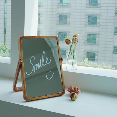 우드 원목 탁상 거울 갓샵 사각 화장대 접이식 거울