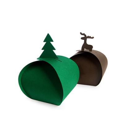 트리와 루돌프 보자기 상자 소 set (2개)
