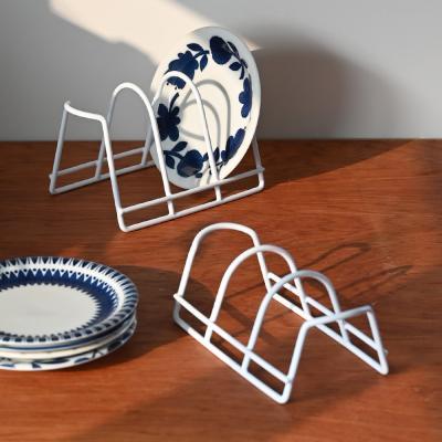 화이트 그릇 정리대 접시꽂이 2P세트