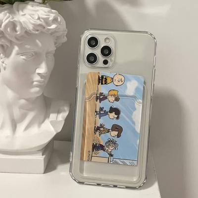 아이폰 투명 카드 케이스 12 11 프로 맥스 X 8 리트