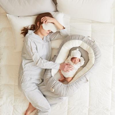 신생아보트 아기침대 (아이보리)