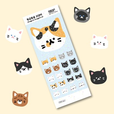 동글동글 고양이 스티커