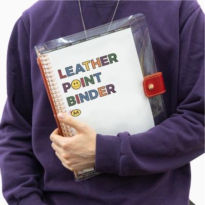 플랜커스 레더 포인트 바인더 A4 30공