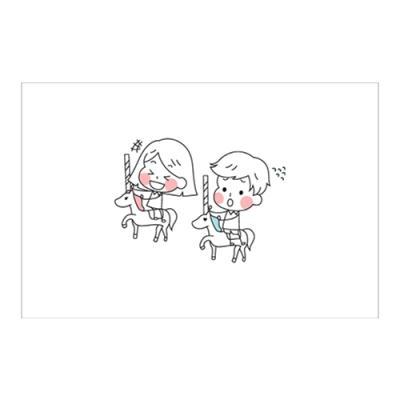 왈가닥스 러블리 포스트카드 엽서 - merry go round