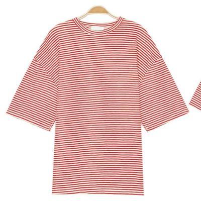 남성 여성 여름 데일리 반팔 티셔츠 컬러 단가라티