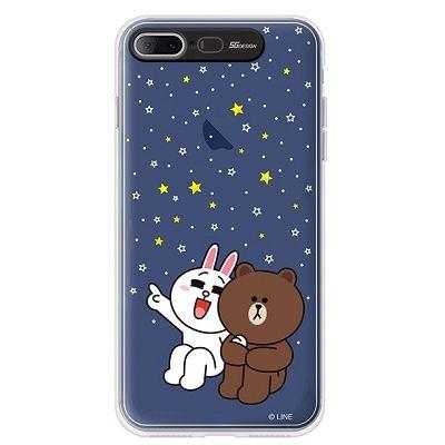 [SG DESIGN]iPhone7/ 7Plus 라인프렌즈 PREMIUM LIGHT UP Case - LIGHT STAR(BLACK/라이팅)