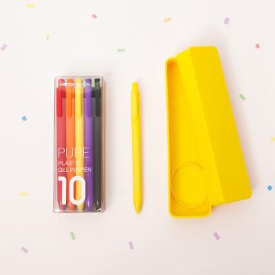카코 KACO 퓨어 젤펜 10색상 세트+퓨어 실리콘 케이스 젤펜 세트