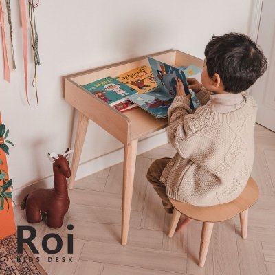 [꼬메모이] 로이 책상 / 키즈 자작나무 테이블
