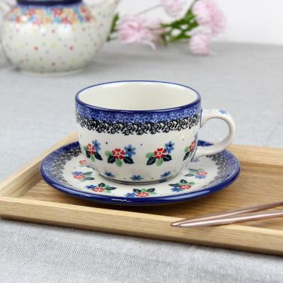 폴란드그릇 아티스티나 티잔&소서세트 200ml 패턴1521