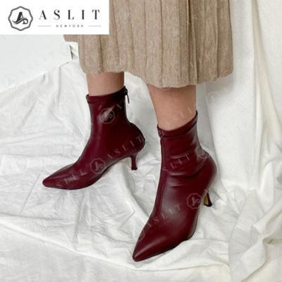 [애슬릿]여성 스틸레토 엣지 힐 스판 부츠 7cm