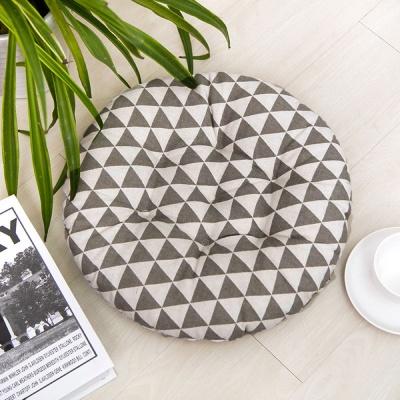 쿠지 삼각 원형방석(그레이)