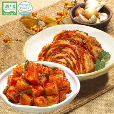[명가김치] 100% 국내산 맛김치 3kg+깍두기 1kg