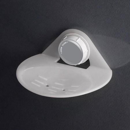 Dehub 진공흡착형 비누 접시 컴팩트 (화이트)