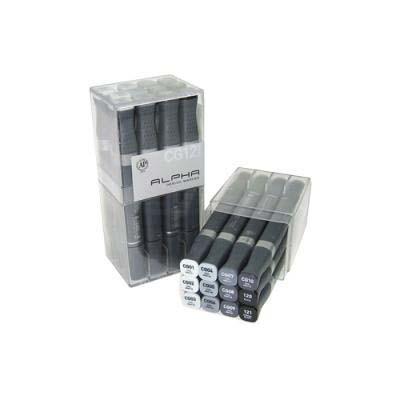 알파 디자인마카 12색 set - Cool Gray