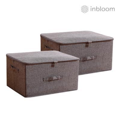 인블룸 1+1세트 패브릭 수납박스 특대형 브라운