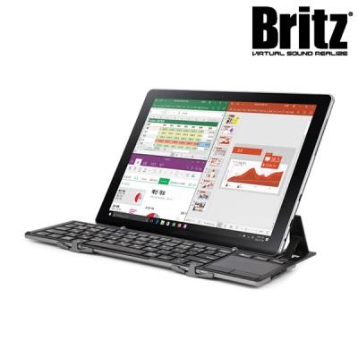 브리츠 3단 접이식 터치패드 일체형 블루투스 키보드 BA-BK10 (블루투스3.0 / 5열기능 / 멀티 페어링)