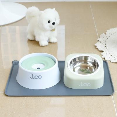 제이코 애견 식기 3종 세트, 물그릇+밥그릇+식기매트