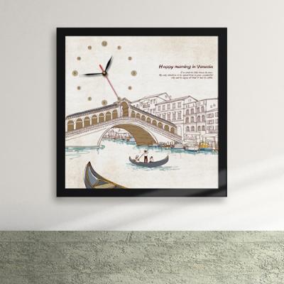 iz182-베네치아의 아침 액자벽시계_디자인액자시계