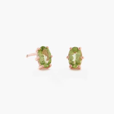 제이로렌 99M01809 탄생석 페리도트원석 실버 귀걸이