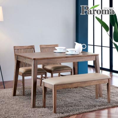 파로마 우든 4인용 원목 식탁세트 벤치형 CR11