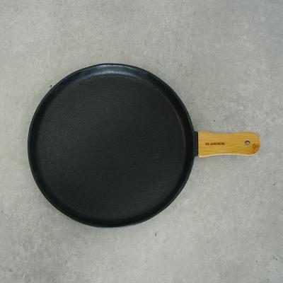 우드손잡이 블랙 무광 그릇 원형플레이트 (대)