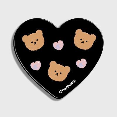 Dot love and bear-black(하트톡)